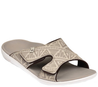Spenco Men's Adjustable Slide Sandals - Tribal - A355914