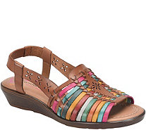 Comfortiva Leather Slingback Sandals - Formosa - A358514
