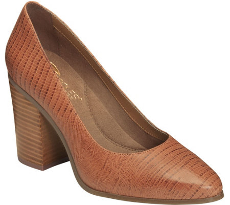 Aerosoles Heel Rest Block Heel Pumps - Union Square