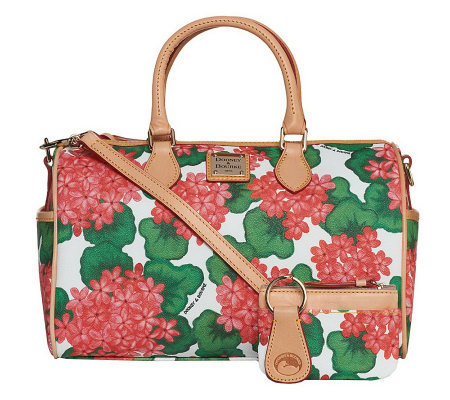 Dooney & Bourke Coated Cotton Floral Printed Satchel with Accessories