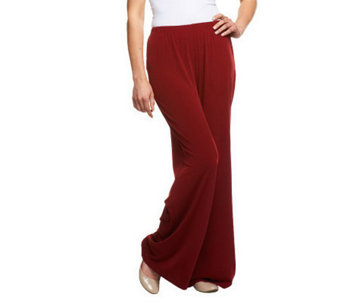 Bob Mackie's Wide Leg Regular Length Knit Pants - A13015