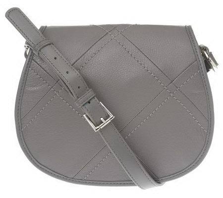 Tignanello Stitched Glove Leather Flap Crossbody Bag