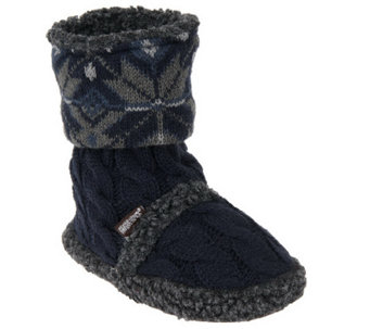 MUK LUKS Indoor/Outdoor Boots with Memory Foam Insole - A238415