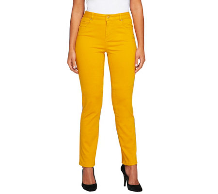 Isaac Mizrahi Live! Petite Icon Grace Straight Jeans