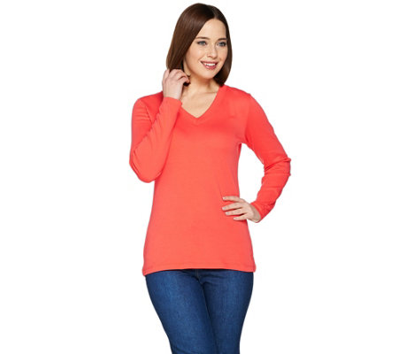 Isaac Mizrahi Live! Essentials Long Sleeve Knit Top