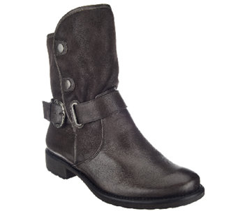 BareTraps Suede & Leather Water Repellent Ankle Boots - Select - A258715