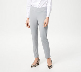 Linea by Louis Dell'Olio Knit Pull-On Slim Ankle Pants - A265615