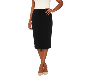 Susan Graver Passport Knit Comfort Waist Pull-On Skirt - A268015