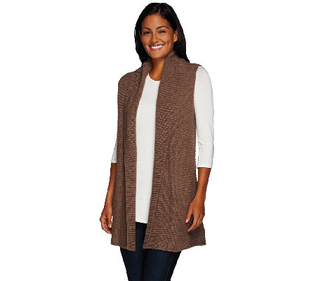 Liz Claiborne New York Sweater Vest with Shawl Collar