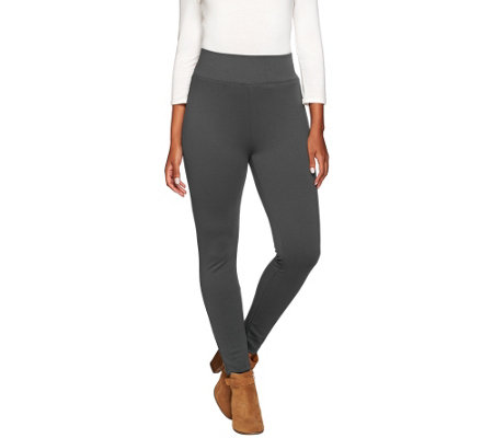 LOGO by Lori Goldstein Knit Twill Pull-On Slim Leg Pants
