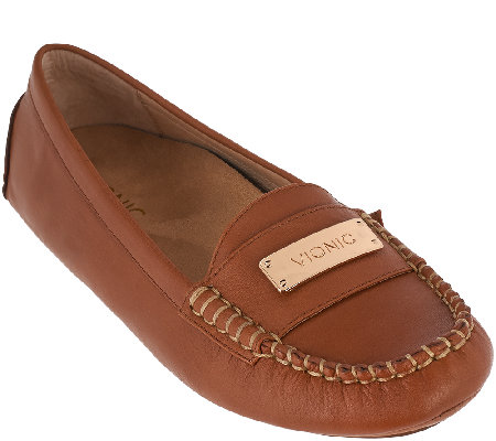Vionic Orthotic Leather Moccasins - Sydney