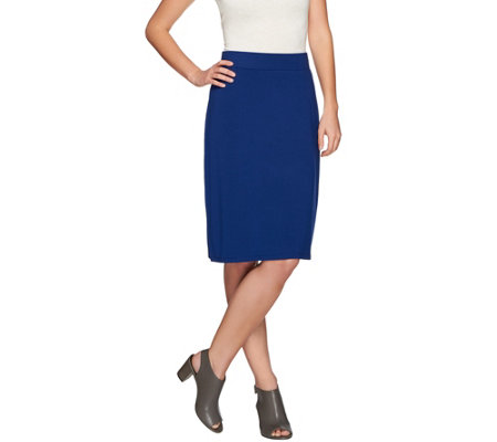 LOGO Layers by Lori Goldstein Knit Skirt with Elastic Waistband