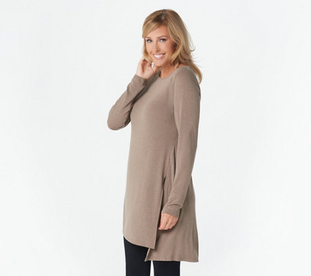 """As Is"" Lisa Rinna Collection Long Sleeve Knit Tunic"