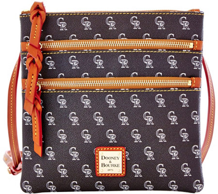 Dooney & Bourke MLB Rockies Triple Zip Crossbody