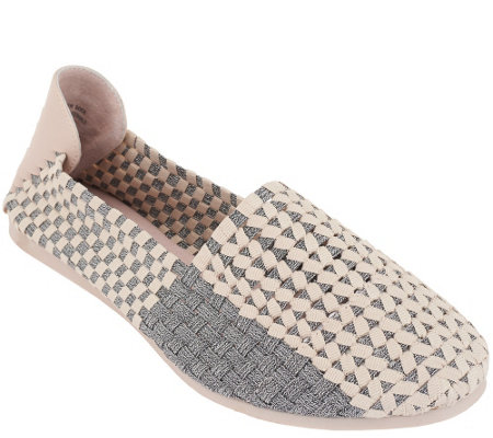 """As Is"" Adam Tucker Stretch Woven Slip-on Shoes - Saint"