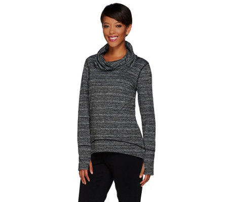 """As Is"" cee bee CHERYL BURKE Long Sleeve Cowl Neck Pullover"