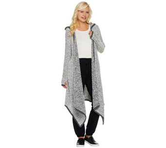 Peace Love World Sweater Knit Maxi Cardigan with Pockets - A285615