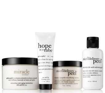 philosophy super-size skin makeover peel & reveal trio - A288715