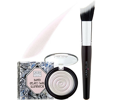 Laura Geller Diamond Dust Baked Gelato Illuminator w/ Brush - A290415