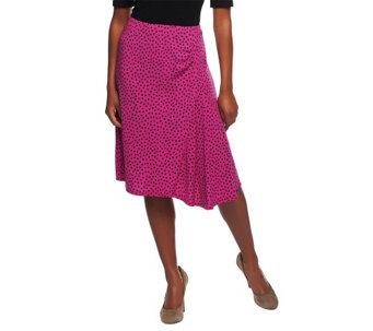 """As Is"" George Simonton Milky Knit Dot Skirt w/ Ruffle Detail - A291415"