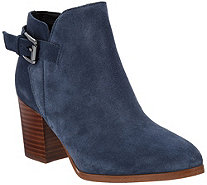 Marc Fisher Suede Block Heel Ankle Boots - Vandy - A295015