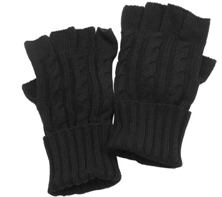 MUK LUKS Men's Cable Knit Gloves