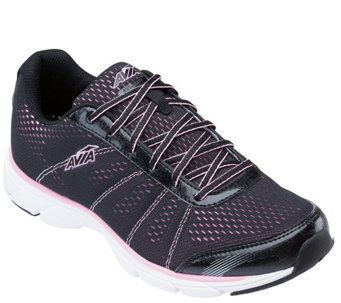 Avia Engineered Mesh Lace-up Walking Sneakers -Avi-Rove - A339415