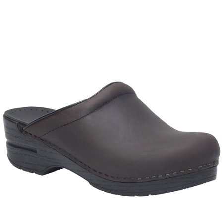 Dansko Open Back Leather Clogs - Sonja