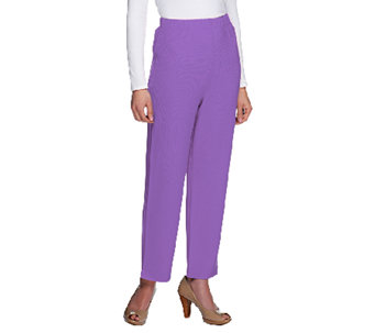 Susan Graver Lustra Knit Petite Pull-on Ankle Pants - A2016