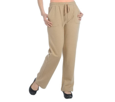 Isaac Mizrahi Live! French Terry Drawstring Pull-on Pants