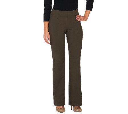 Women with Control Petite Hollywood Waist Pants with Seam Detail