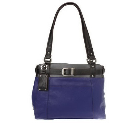 Tignanello Glove Leather Colorblock Shopper