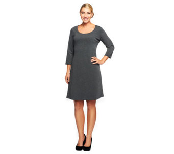 Liz Claiborne New York 3/4 Sleeve Ponte Knit Dress - A235216