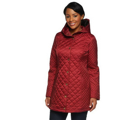 Liz Claiborne New York Hooded Quilted Coat