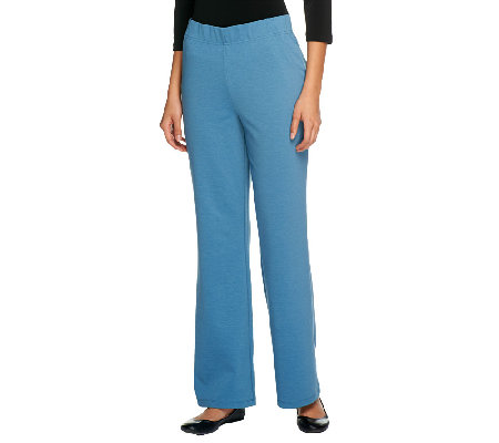 Women with Control Petite Ponte di Roma Knit Boot Cut Pants