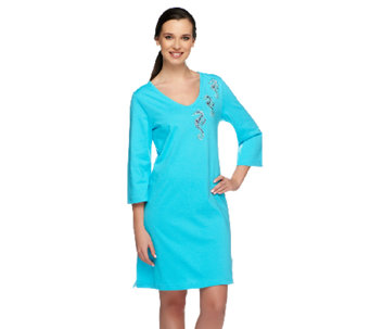 Quacker Factory By the Sea 3/4 Sleeve Knit Cover-Up - A240816