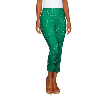 Women with Control Tall Confetti Dot Slim Leg Crop Pants