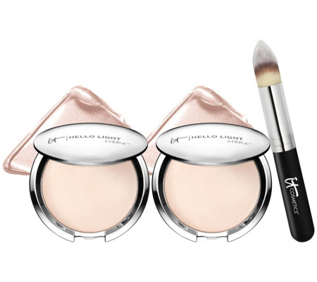 IT Cosmetics Super-Size Hello Light Creme Luminizer with Brush