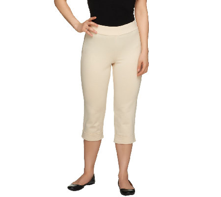Women with Control Petite Capri Pants with Cuff Detail