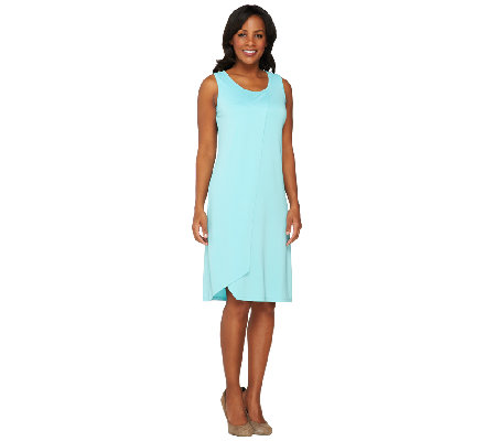 Susan Graver Premier Knit U-Neck Sleeveless Dress
