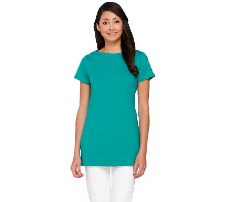 Liz Claiborne New York Essentials Bateau Neck Tunic