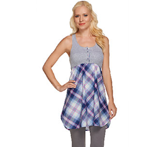 Jane & Bleecker Ribbed Henley Chemise - A264416