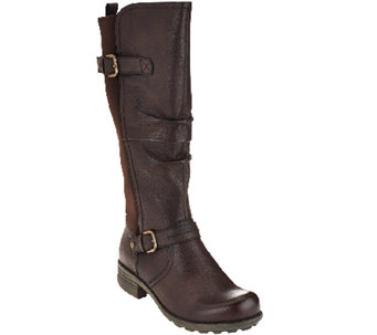 Earth Origins Leather Medium Calf Boots - Penelope - A267716