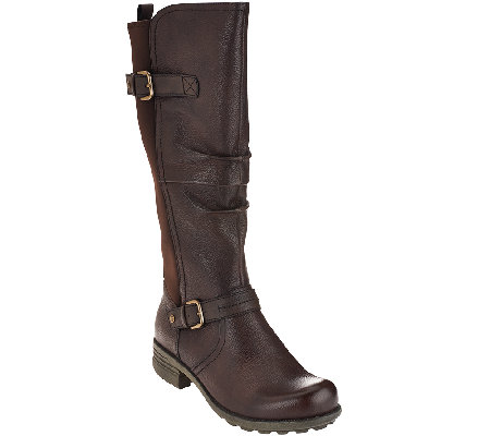 Earth Origins Leather Medium Calf Boots - Penelope