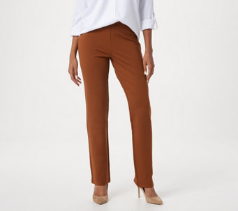 Linea by Louis Dell'Olio Pull-On Ponte Knit Pants - A268216