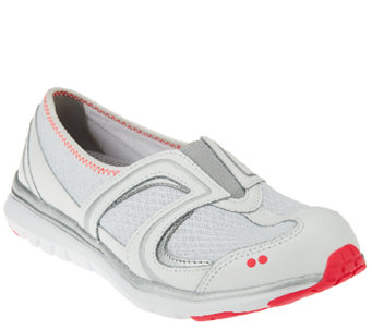 """As Is""  Ryka Leather and Fabric Slip-on Sneakers - Arbour II - A270016"