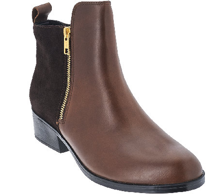 Cougar Leather & Suede Waterproof Ankle Boots - Connect