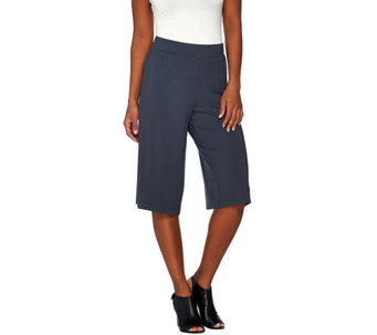 LOGO Layers by Lori Goldstein Knit Culotte Pant - A274116
