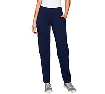 Denim & Co. Active Tall French Terry Contour Waistband Pants - A277416