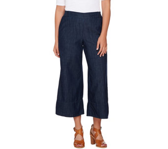 Attitudes by Renee Pull-On Denim Culotte Pants - A277516